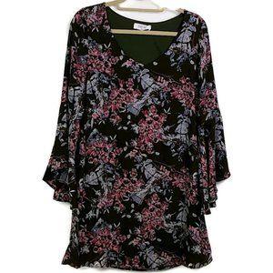 Peach Love California sz S Floral Dress PB22
